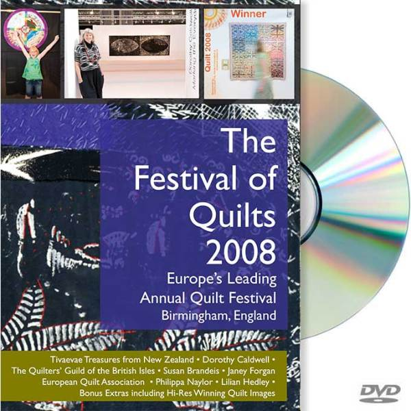 the festival of quilts, 2008, DVD cover image, galli creative