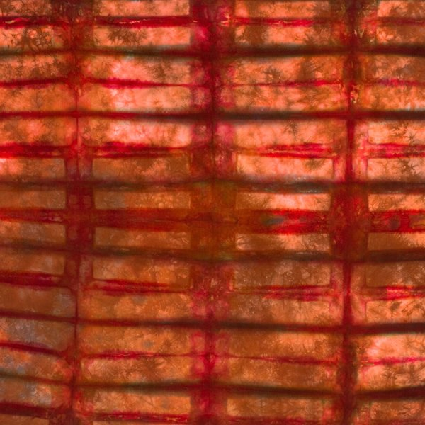 color by accident low water immersion dyeing video workshop - ann johnston - folding and clamping shibori tie dye