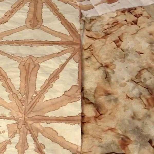 01.kakishibu Persimmon Tannin Shibori Paper Fabric Analisa Hedstrom