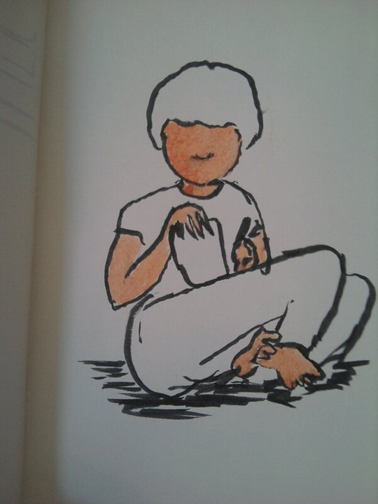 Autorretrat dibuixant