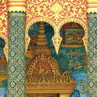 Buddhist Columns: Strong and Beautiful in Luang Prabang