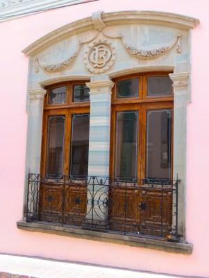 Door Framed in Green Stone-Guanajuato