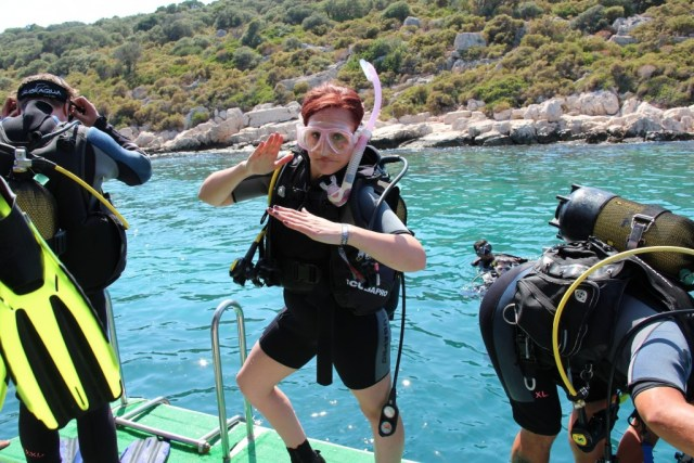 Scuba diving in Kas, Turkey