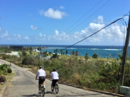 "Bike Tour of Basseterre, St. Kitts - Cruise May 2016 (""Action Shot"" - little blurry!)"