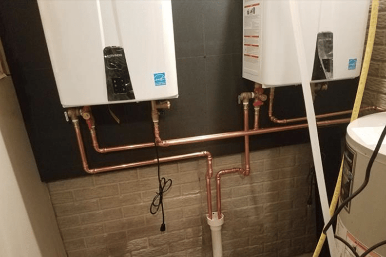 Tankless Water Heaters Allon Gallon Plumbing Des Moines Iowa Plumber Drains Pipes Sewage faucets