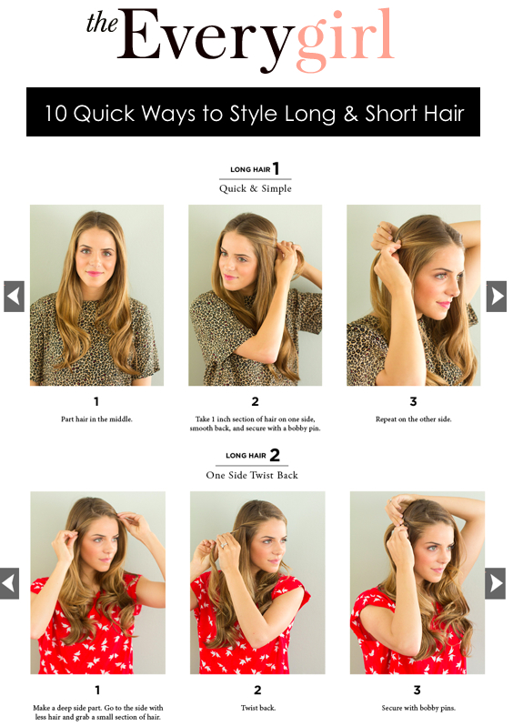 10 Quick Ways To Style Long Amp Short Hair Gal Meets Glam