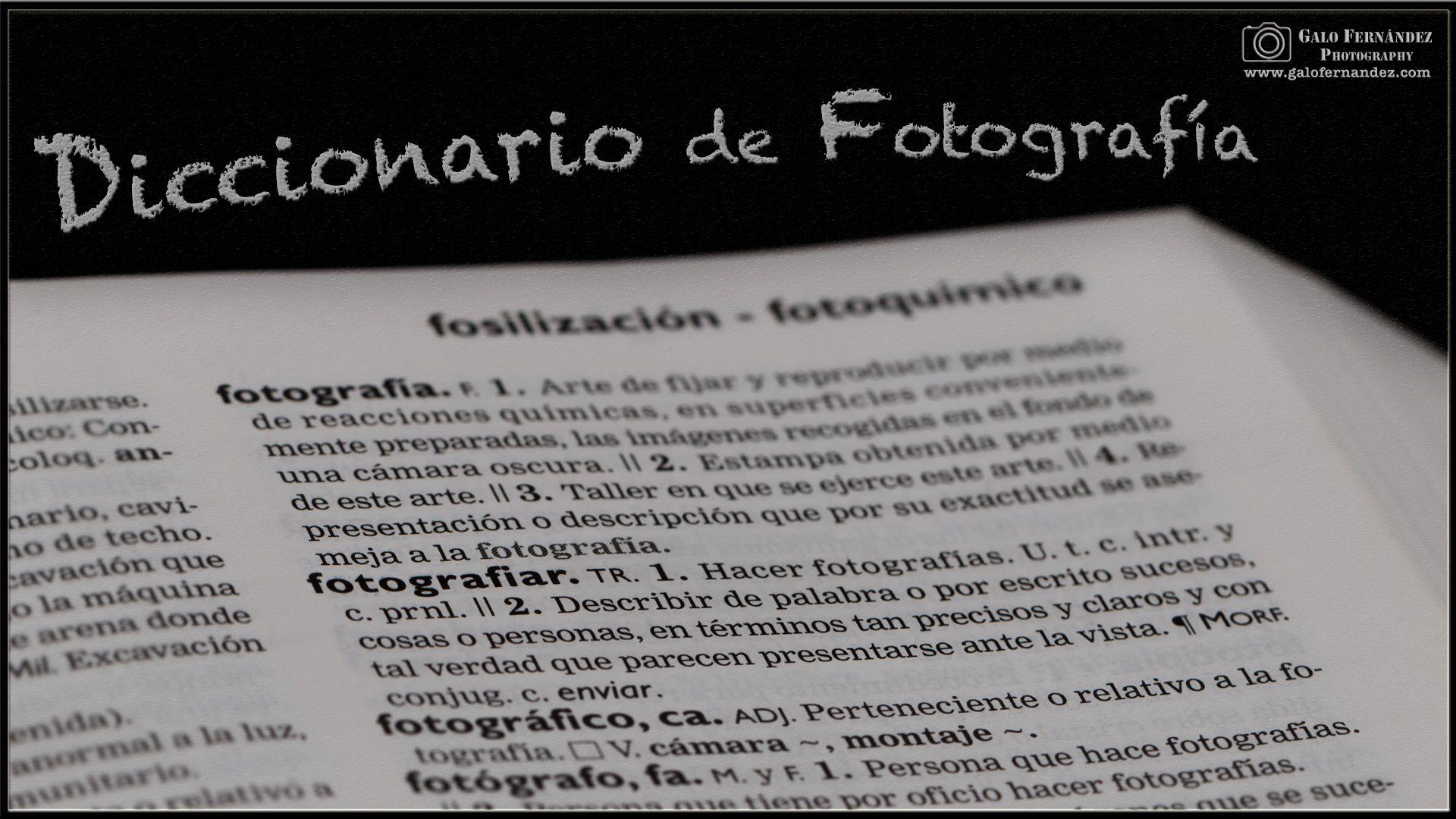 Diccionario de Fotografía