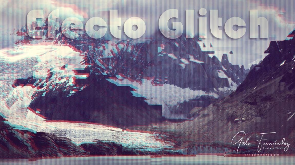 Vista panorámica de la Patagonia editada con el Efecto Glitch