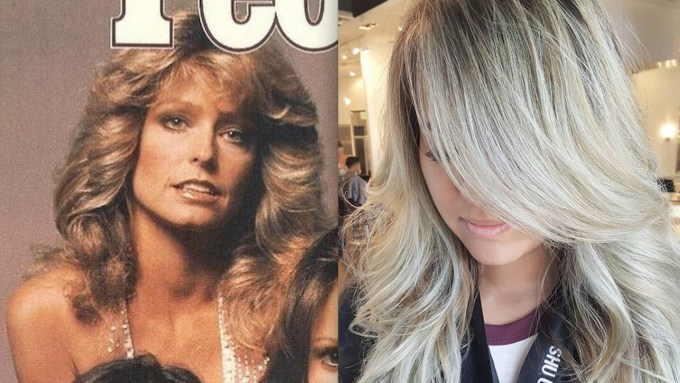 """farrah fawcett hair is coming back as """"chandelier layers"""
