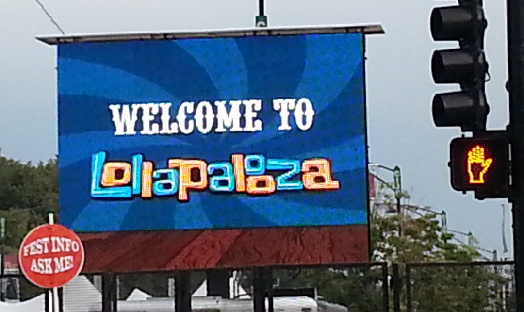 Lolla Street Sign