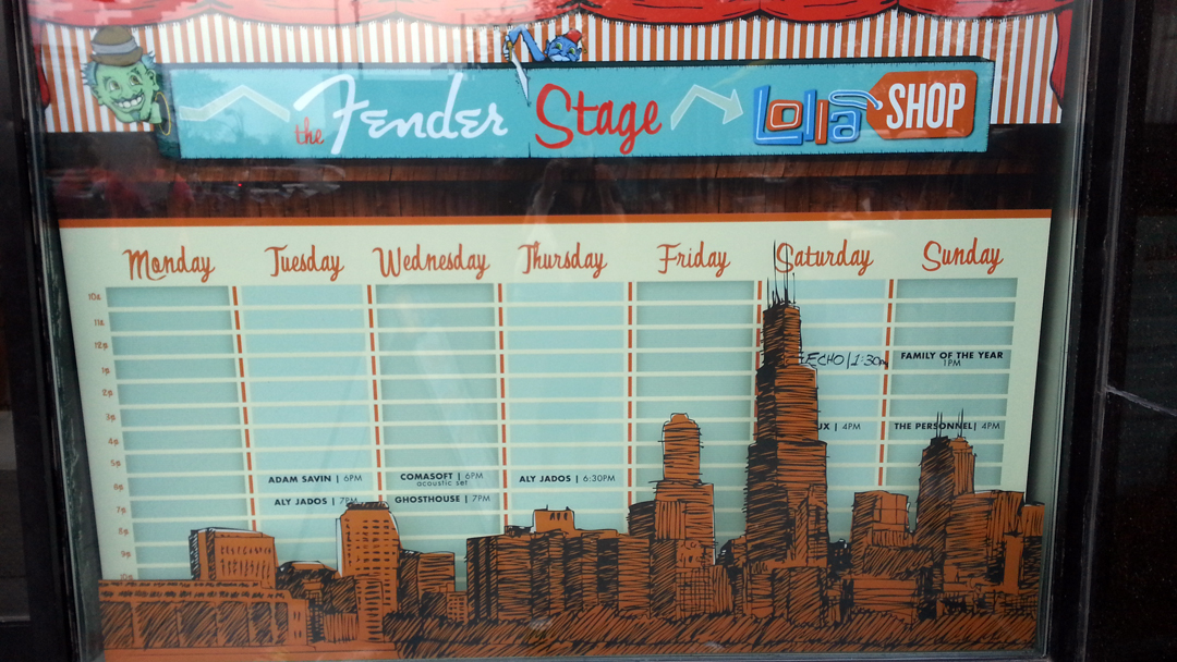Offsite Fender stage lineup.