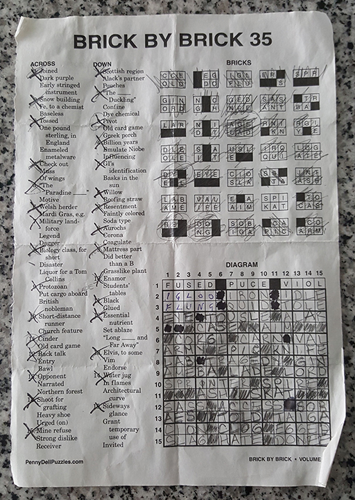 Brick by Brick Crossword