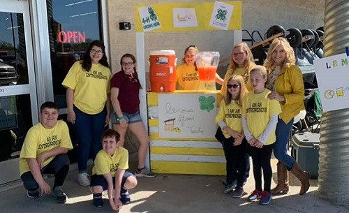 April Lemonade Day stand