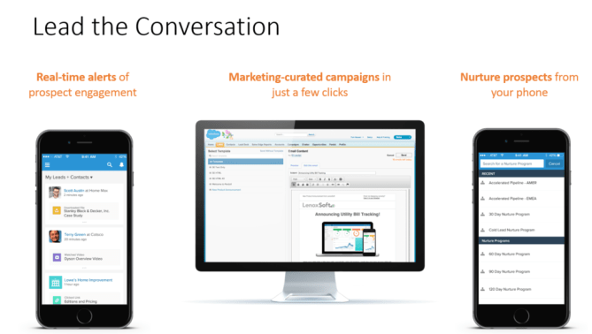 Lead the Conversation wtih Sales Cloud Engage