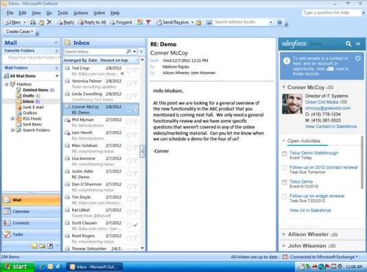Salesforce for Outlook Side Panel