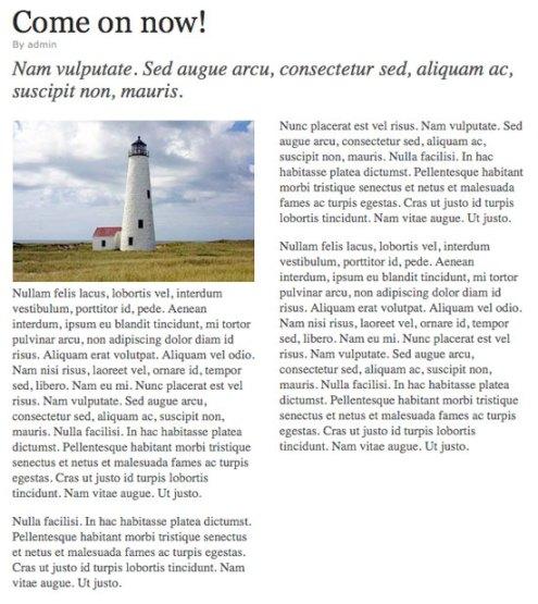 Columnas estilo revista o periódico en WordPress