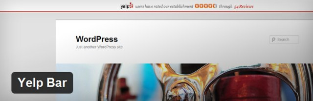 Yelp Bar plugin wordpress restaurantes