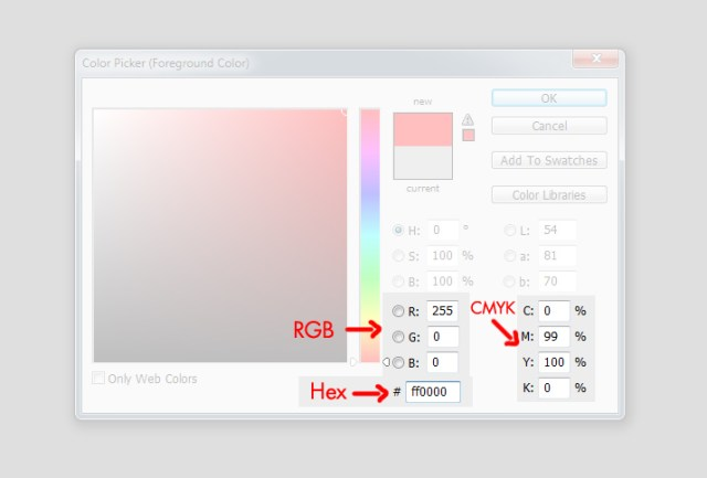 Photoshop paleta de color