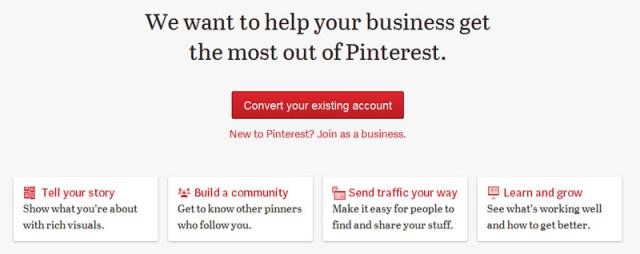 Convertir cuenta Pinterest en perfil de empresa