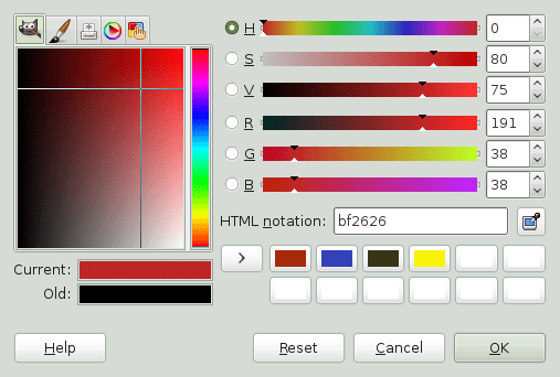 Gimp Color select