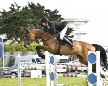 Cormac Hanley jumping in the Grand Prix 2014