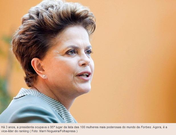 Dilma Rousseff é eleita a segunda mulher mais poderosa do mundo pela revista 'Forbes'