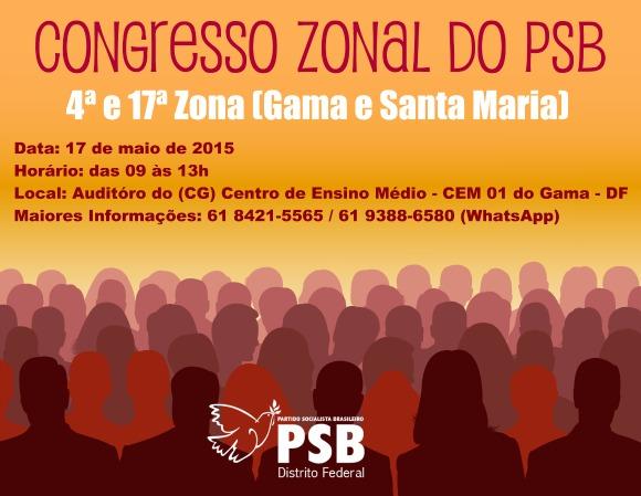 Congresso Zonal do Psb 4ª e 17ª Zona (Gama e Santa Maria)