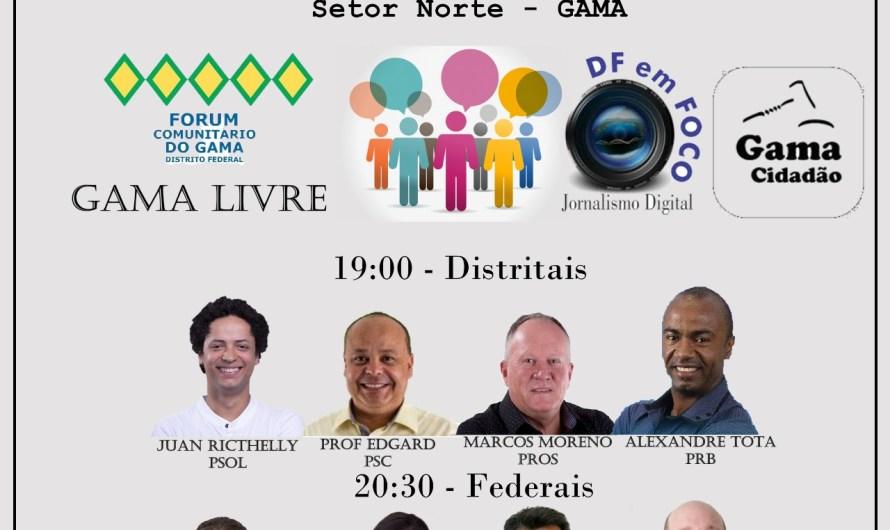 Eleições 2018 | Debate entre candidatos do Gama será nesta quarta (3/10) às 19 horas