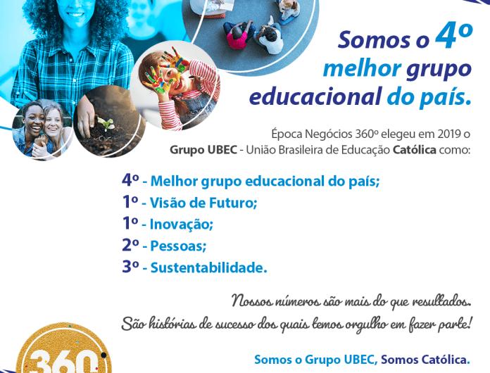 UBEC é o 4º melhor grupo educacional do Brasil