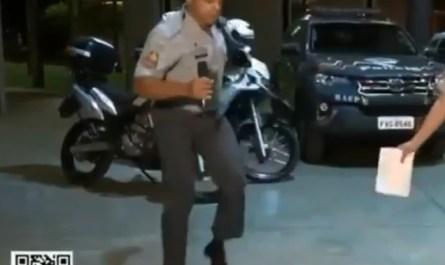 Capitão da PM viraliza nas redes sociais dançando Don't Stop The Rock