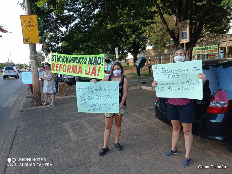Ato em defesa do Centro de Saúde nº 08 do Gama movimenta a cidade