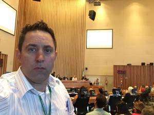 """O chefe de gabinete da Administração Regional do Gama, Cleider Paiva, conhecido na região como """"Pudim"""", foi agredido com uma série de socos desferidos por dois homens ainda não identificados."""