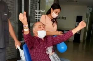 VÍDEO: Gamense ganha festa ao receber alta do Hospital Santa Lúcia Gama após Covid-19