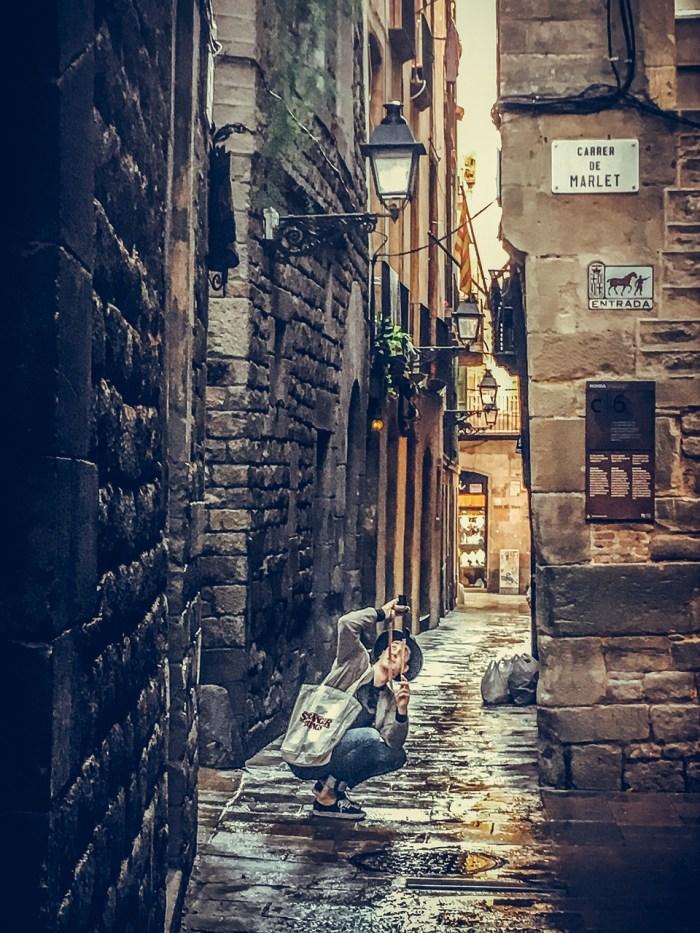 Calles del barrio Gótico de Barcelona