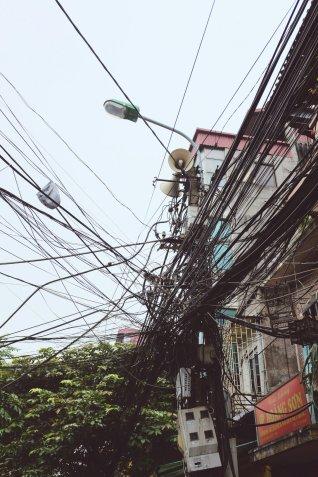 Typische Stromleitungen