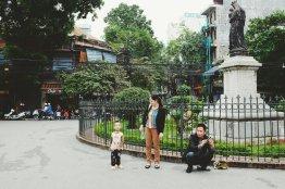 Familie auf Sightseeing Tour