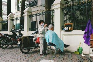 Straßenfrisör