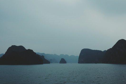 Typisches Bild der Ha Long Bucht