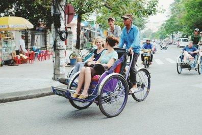 Rikschafahrer und ihre Beute