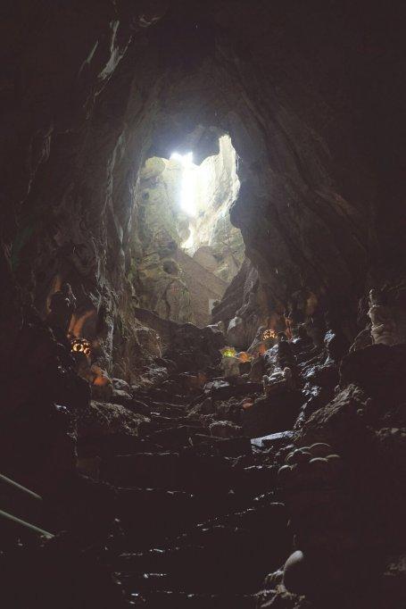 Blick nach Oben im Marble Mountain