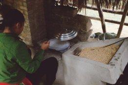 Der Ofen zur Herstellung von Reispapier