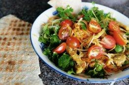 Der fertige Papaya-Salat