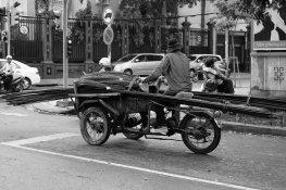 Transport von Baumaterialien