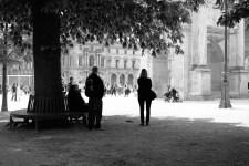 Vor dem Louvre