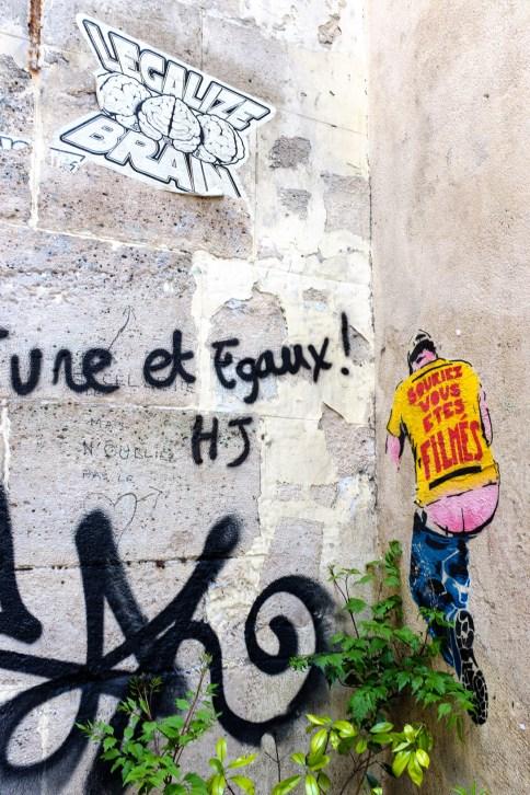 Streetart in Le Marais