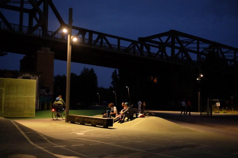 Abends im Park am Gleisdreieck