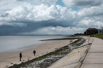 Am Strand vom Jadebusen