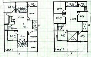 desain rumah minimalis 2 lantai ukuran 10×15 - rumah