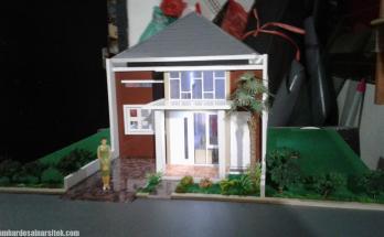 Maket Arsitektur Miniatur Model 22 b