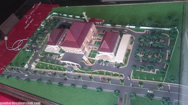 Maket Arsitektur Miniatur Model 26 c